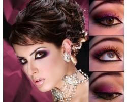 Техника нанесения арабского макияжа глаз
