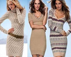 Модные платья из трикотажа тенденции 2014 года