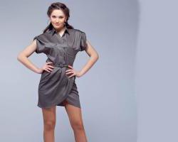 С чем сочетается платье-рубашка?