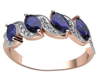 Купить золотое кольцо с сапфиром
