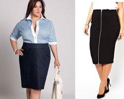 Советы по выбору юбки для полных